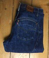 """Mens Levi Strauss Jeans Straight Leg Trouser Button Fly Size Waist 27"""" & Leg 31"""""""