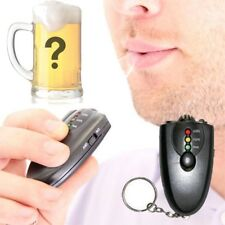Mini Breath Alcohol Tester Breathalyzer Analyzer Detector Keyring Flashlight