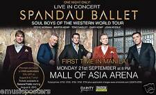 """Spandau Ballet """"First Time In Manila!"""" 2015 Philippines Concert Tour Poster"""