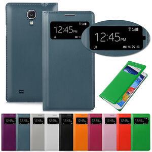 Samsung Galaxy S4 Cover Hülle Etui Case S View Flip Tasche Schutz Display neu