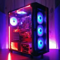 Gaming PC RGB Desktop Computer Intel i7, GTX 1070 8GB, 16GB, 480GB SSD, 2TB WiFi