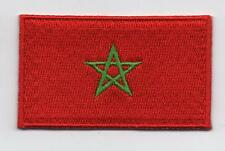 Embroidered MOROCCO Flag Iron on Sew on Patch Badge HIGH QUALITY APPLIQUE