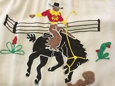 Vintage 1940s 50s Tem Tex Embroidered Rayon Western Shirt Ultra Rare!