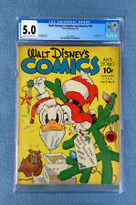 WALT DISNEY'S COMICS AND STORIES #16 CGC 5.0 VG/FINE DONALD DUCK DELL GOLDEN AGE