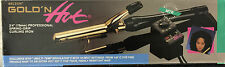 "BELSON GOLD 'N HOT 3/4"" PROFESSIONAL SPRING-GRIP CURLING IRON-24K GOLD PLATED"