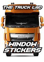 DAF TRUCKS WHEEL LOGO WINDOW VINYL STICKER X1 DAF XF CF LF TRUCKS HAULAGE TRUCK