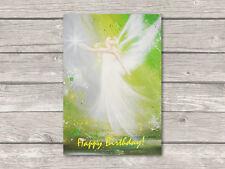 "♥ Engel Postkarte ""Happy Birthday!"" Kunst Engelbild, Engelkarte Glückwunschkarte"