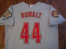 Roy Oswalt 2010 Houston Astros Game Used Road Gray Jersey RARE 45th Anniversary