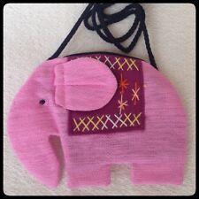 Thai handmade ELEPHANT PINK Cotton Coin key purse cross body shoulder bag