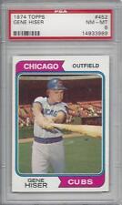 1974 Topps baseball card #452 Gene Hiser, Chicago Cubs graded PSA 8 NMMT