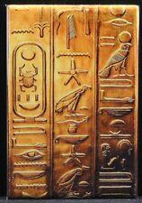 """Gold Egyptian Hieroglyphs 2"""" X 3"""" Fridge Magnet. Ancient Egypt Giza Scarab"""