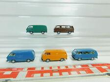BO571-0, 5 #5x Wiking H0 / 1:87 Transporter VW / Volkswagen T3, Very Good