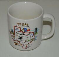 Nice Vintage TEXAS The Lone Star State 1960s Ceramic Coffee Mug RARE