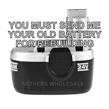 Rebuild service for Worx 24V Ni-Cd Battery 418104  BETTER THAN NEW