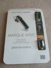 Plantronics Marque M155 Jet Black Bluetooth Headset Earpiece M-155  742943