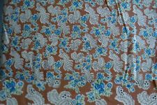 11 Yards Brown with Blue Flower Bouquet