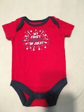 My First 4th Of July Bodysuit One Piece 0-3 Months Baby Unisex