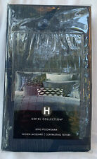 Hotel Collection Cubist Geometric Pillow Sham - KING - Navy Blue