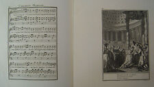 Musik von Laborde 1881 Trennwand Text und 2 Gravuren XIX. L Happy Hochzeit