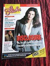 FLICKS - UK MOVIE MAGAZINE - MAR 1995 - DEMI MOORE - DISCLOSURE