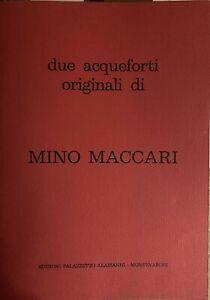 Mino Maccari cartella 2 acqueforti Personaggi 50x35 originale non firmate