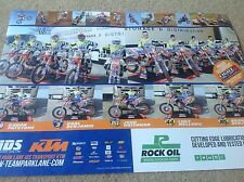 KTM MOTOCROSS TEAM  RACING POSTER HONDA YAMAHA HARLEY ROCK OIL KAWASAKI MOTUL