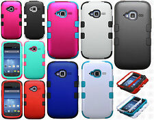 For ZTE Concord II 2 Z730 IMPACT TUFF HYBRID Protector Case Skin Phone Cover