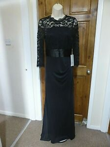 Pretty black lace detail evening dress from Babyonline size 10
