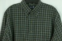 Viyella Lands' End XL 17-17.5 Tall Cotton Wool Blend Plaid Button Down Shirt