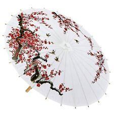 Chinesischer Asiatischer Schirm Sonnenschirm - weiß Zubehör Accessoire Karneval