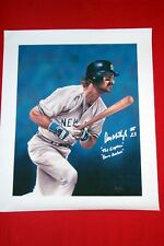 """NY YANKEE DON MATTINGLY AUTOGRAPHED   20""""X 24"""" CANVAS WITH 4 SPECIAL INSCRIPTION"""