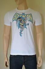 Nouveau ABERCROMBIE & FITCH Vintage Batman Tee T-shirt Blanc super-héros M