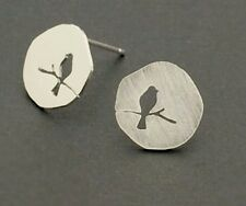 Bridesmaid jewellery GIFT Sterling silver FREE BOX Bird on a Branch earrings