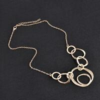 Charm Women Jewelry Chain Crystal Choker Chunky Statement Bib Necklace Pendant