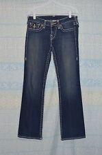 "True Religion Disco Becky Big T Medium Wash Women Jeans 28x30"""