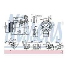 Fits Honda Accord MK8 2.2i-CTDi Genuine Nissens A/C Air Con Compressor