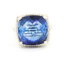 Gorgeous Blue Sapphire  Ring 925 Sterling Silver Ring Prong Set Ring