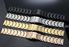 Stainless Steel Wrist Watch Band 20mm Adjustable Straps Bracelet Metal Watchband