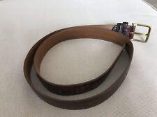 "Men's Brown Leather Belt,  Snakeskin Look, 34"" Waist"