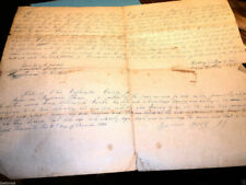 #9136,Ohio Deed Sale of Land Indianapolis In 1844,Seldom Seen