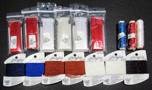 17xNeedlepoint/Embroidery THREAD YLI ShimmerBlend rayon ribbon+RG Hilights-XW54