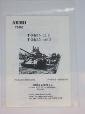 1/72 T-34/85 DECALS part 2 - ARMO JADAR 72402
