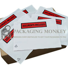50 x A5 Printed Document Enclosed Wallets Envelopes C5
