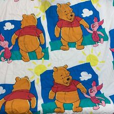 Winnie the Pooh Twin Flat Sheet Pillowcase Piglet Vintage Throwback Bedding Flaw