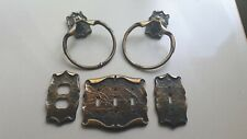 Vintage Amerock Carriage House 2 Towel rings outlet plate switch plate triple