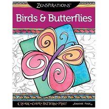 Coloring Book for Adults Zenspirations Birds & Butterflies Design Originals 72pg