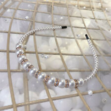 Ladies's Pearl Headband Hairband Crystal Head Band Fashion Headwear Wedding