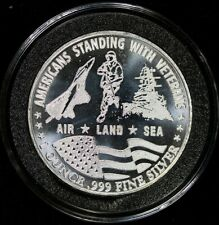 2017 Amac Americans Standing With Veterans 1 oz Silver Round Item#J5988-J6008