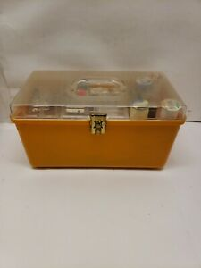 Vintage Wilson, Wilhold, Petite Sewing Box With Supplies, Yellow