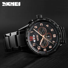 SKMEI Luxury Men Watch 30m Waterproof Chrono Calendar Quartz Wristwatch 9176 6E